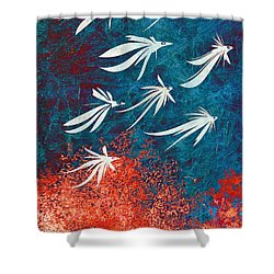 Birdeeze -v04 Shower Curtain by Variance Collections