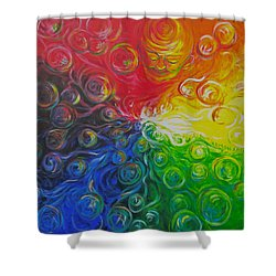 Birth Of Color Shower Curtain by Jeanette Jarmon