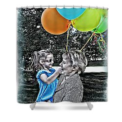 Birthdays Shower Curtain by Joan  Minchak