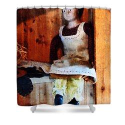 Bisque Doll Shower Curtain by Susan Savad