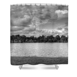 Shower Curtain featuring the photograph Black And White Autumn Day by Michael Frank Jr