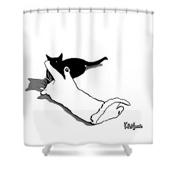 Black And White Cats Shower Curtain