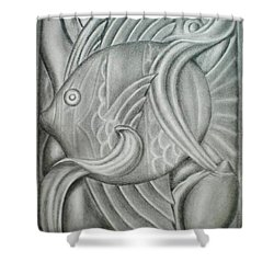 Black And White Fish Shower Curtain