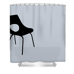 Black Chair Shower Curtain by Naxart Studio