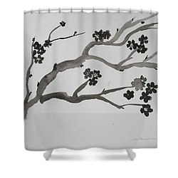 Black Cherry  Shower Curtain