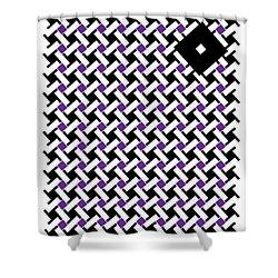 Black Flag 4. Shower Curtain by Nancy Mergybrower