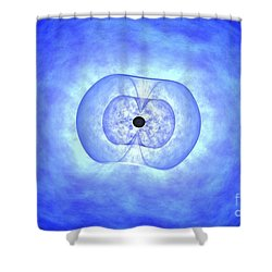Black Hole Preceding Grb Event Shower Curtain by NASA / Science Source