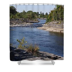 Black River 2 Shower Curtain by Mary McInnis