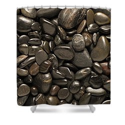 Black River Stones Landscape Shower Curtain by Steve Gadomski