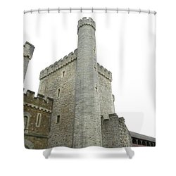 Black Tower Shower Curtain