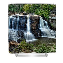 Shower Curtain featuring the photograph Black Water Falls by Mark Dodd
