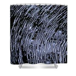 Black Water White Foam Shower Curtain