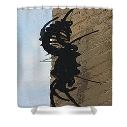 Black Widow Spider Art Shower Curtain by Karon Melillo DeVega