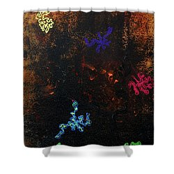 Blacklight Sea Shower Curtain