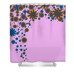 Blades On Purple Shower Curtain by Atiketta Sangasaeng