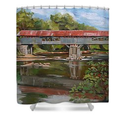 Blair Bridge Campton New Hampshire Shower Curtain
