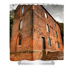 Blast Furnaces 1830s Shower Curtain by Adrian Evans