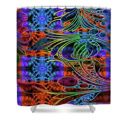 Bleeding Rainbow Shower Curtain by Clayton Bruster