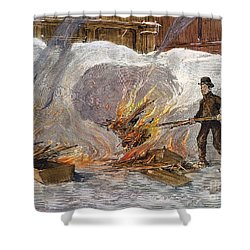 Blizzard Of 1888, Nyc Shower Curtain by Granger
