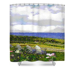 Block Island Sea Chairs Shower Curtain