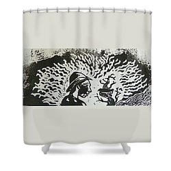 Block Print Detail Shower Curtain by Thor Senior