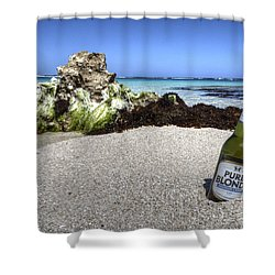 Blonde On The Beach  Shower Curtain by Rob Hawkins
