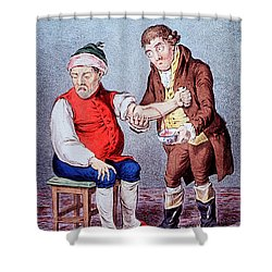 Bloodletting-1804 Shower Curtain by Science Source