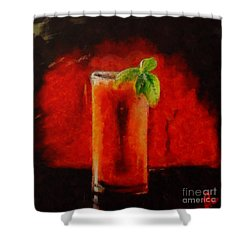 Shower Curtain featuring the painting Bloody Mary Coctail by Dragica  Micki Fortuna