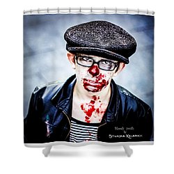 Shower Curtain featuring the photograph Bloody Youth by Stwayne Keubrick