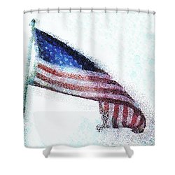 Blowing In The Wind Shower Curtain by Steve Taylor