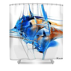 Blue Abstraction Shower Curtain