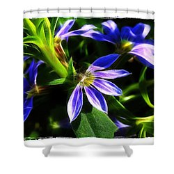 Shower Curtain featuring the photograph Blue Ballet by Judi Bagwell