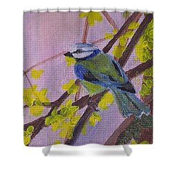 Blue Bird Shower Curtain by Christy Saunders Church