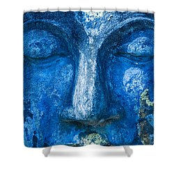 Shower Curtain featuring the photograph Blue Buddha  by Luciano Mortula
