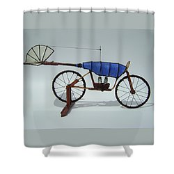 Blue Caravan Shower Curtain