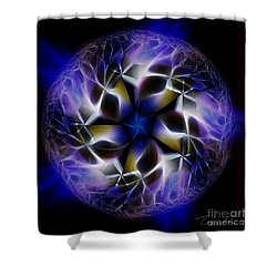 Blue Creation Shower Curtain by Danuta Bennett
