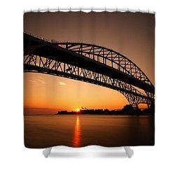 Shower Curtain featuring the photograph Blue Dawn by Gordon Dean II