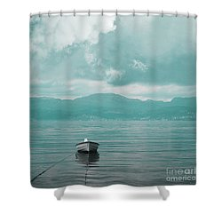 Blue Fjord Shower Curtain