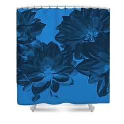 Blue Flower Art Shower Curtain by Aimee L Maher Photography and Art Visit ALMGallerydotcom