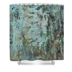 Blue Grunge Metal Texture Background Shower Curtain