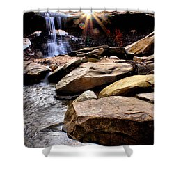 Shower Curtain featuring the photograph Blue Hen Falls by Michelle Joseph-Long