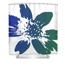 Blue In Bloom Shower Curtain