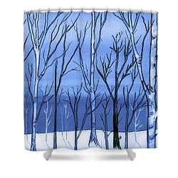 Blue Interlude Shower Curtain