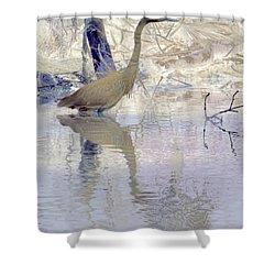 Blue Inverted Shower Curtain by Deborah Benoit
