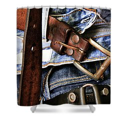 Blue Jeans Shower Curtain by Stelios Kleanthous