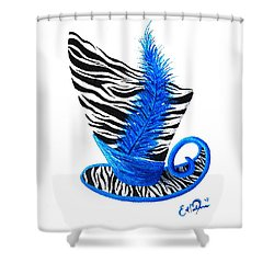 Blue Magic Hat Shower Curtain by Oddball Art Co by Lizzy Love