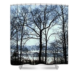 Shower Curtain featuring the photograph Blue Mirage by Pamela Hyde Wilson