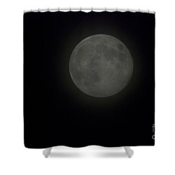 Blue Moon Shower Curtain by Thomas Woolworth