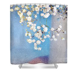 Blue Morning Shower Curtain by Lyn Randle