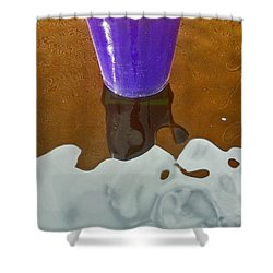 Shower Curtain featuring the photograph Blue Planter by David Pantuso